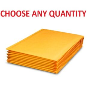 00 5x10 Kraft Bubble Mailers Shipping Mailing Padded Bags Envelopes 5 X 9