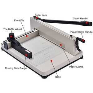 12 A4 Trimmers Paper Cutter Machine Guillotine Heavy Duty Steel Business White
