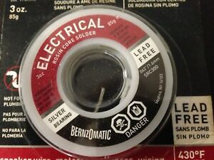 Bernzomatic Electrical Solder 3 Oz Lead free lot Of 7