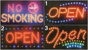 Led Signs Business Store Open No Smoking Sign Us Seller