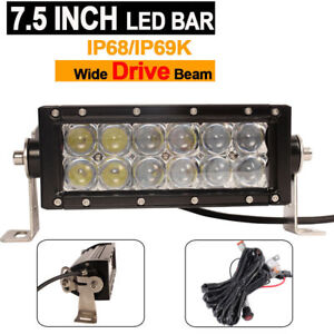 7 5 Inche Off Road Led Light Bar 5d Lens Spot With Wire Harness For Jeep Motors