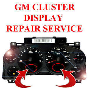 Chevy Silverado Instrument Gauge Cluster Speedometer Lcd Screen Display Repair