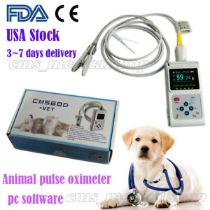 Fda Vet Hand held Pulse Oximeter Spo2 Monitor veterinary Use pc Software battery
