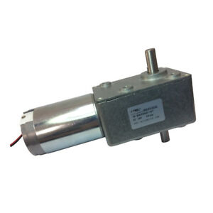 High Torque Dc12v 10rpm Double Right Angle Out Shaft Turbo Geared Reducer Motor