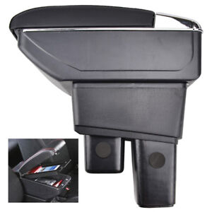 Armrest For 2009 2013 Honda Fit Jazz Center Console Storage Box Tray Leather
