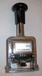 Rogers Automatic Numbering Machine Stamp