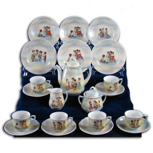 German Childrens Tea Set Complete 23 Piece Set 1910