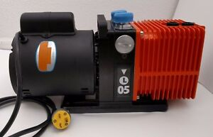Alcatel annecy Pascal Model 2005l Rotary Vane Dual Stage Mechanical Vacuum Pump