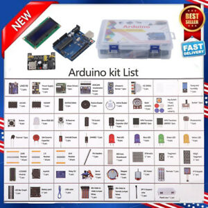 Ultimate Starter Learning Kit For Arduino Uno R3 Lcd1602 Servo Motor 57 Items