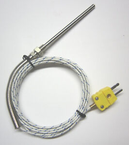 Grounded K type Thermocouple Sensor W High Temperature Stainless Steel Probe Fg