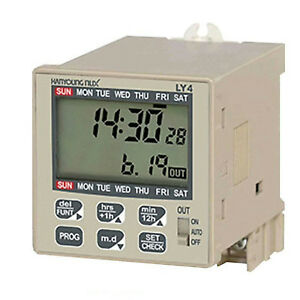 Hanyoung Nux Ly4 Digital Lcd Weekly Yearly Time Switch 100 240vac 48x48