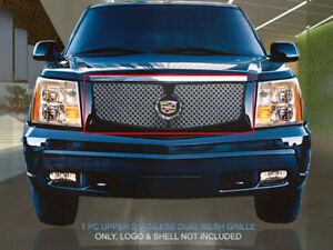 Dual Weave Mesh Grille Main Upper Grill For 2002 2006 Cadillac Escalade