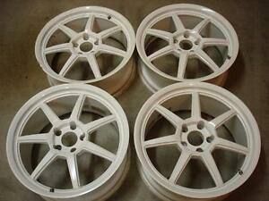 Stern Aguzze Rare Jdm 18x7 5 8 5 Superlight White Altezza Mr2 S2000 Rsx Civic