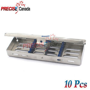 New 10pc Sterilization Cassettes Box For 5 Instruments Dental surgical