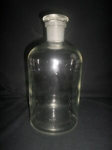 Corning Pyrex Glass 2000ml 2l Heavy Reagent Storage Bottle W 34 Glass Stopper