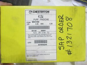 Chesterton 412w Synthetic Yarn Pump Packing 412 w 250 6 4mm 5lb 1 4