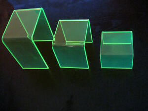 Set Of 3 Acrylic Jewelry Display Risers available In Any Color