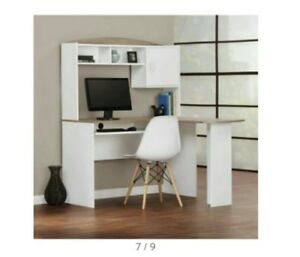 Corner Computer Desk With Hutch L Shaped Home Office Wood Desks Espresso