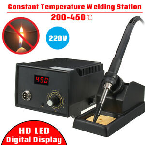 220v 60w 936 Electric Rework Soldering Hot Iron Gun Station Welding Tool Kit
