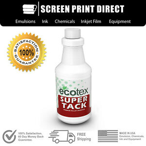 Ecotex Super Tack Premium Pallet Adhesive For Screen Printing Quart 32oz