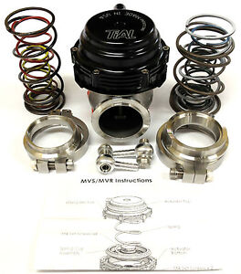 Tial Mvs 38mm Wastegate With V Band Flanges With 3 To 1 7 Bar Springs Black