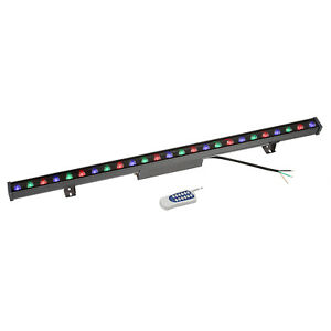Rgb Led Linear Stege Light Bar Wall Wash Remote Control Waterproof Aluminum 40