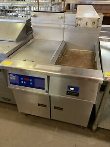 Pitco Frialator 40 50 Gas Fryer 1 50 lb Vat And 1 Dump Station W filtration