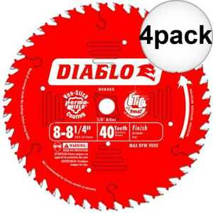Diablo D0840x 4pk 8 1 4 X 40 Tooth Circular Saw Blade New