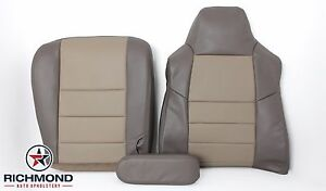 2003 Ford Excursion Eddie Bauer driver Side Complete Leather Seat Covers 2 tone