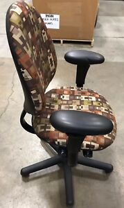 Criterion Ergonomic Office Desk Chair Fully Adjustable Pattern Fabric Steelcase
