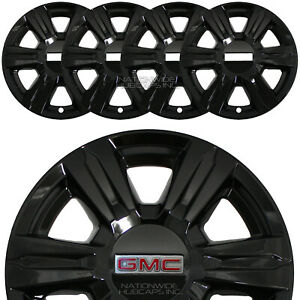 4 Black 2014 2015 2016 Gmc Terrain 17 Wheel Skins Full Rim Covers Hub Caps New
