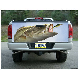 T01 Fish Tailgate Wrap Vinyl Graphic Decal Sticker Laminated