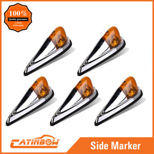 5x Truck Semi Trailer Amber Cab Marker Roof Running Clearance Lights Universal