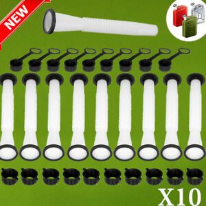 10x Replacement Spout Parts Kit For Rubbermaid Kolpin Gott Jerry Can Fuel Gas