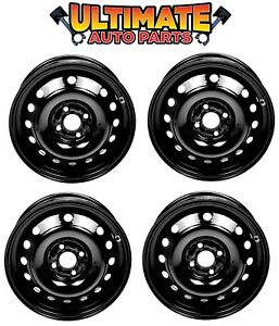 Steel Wheel Rim 15 Inch Wheel set Of 4 For 09 13 Chevy Aveo Or Aveo5