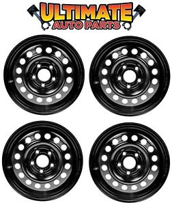 Steel Wheel Rim 15 Inch Wheels Set Of 4 Black For 10 13 Ford Transit Connect