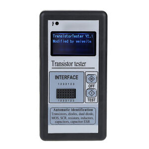 M328 Multi functional Lcd Backlight Transistor Tester Diode Capacit Esr Tester