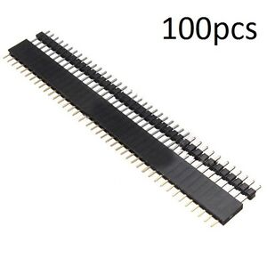 100 Pair 40 Pin 2 54mm Male Female Sil Socket Row Strip Pcb Connector