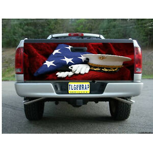 T131 Marines Us Marine Tailgate Wrap Vinyl Graphic Decal Sticker Laminated