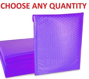 000 4x8 Purple Poly Bubble Mailers Shipping Mailing Padded Envelopes 4 X 7