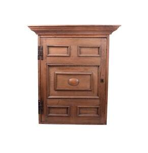 Large Farmhouse Arts Crafts Mission Style Hanging Wall Cabinet Cupboard