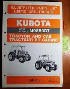 Kubota M9580dt Tractor Cab Illustrated Parts List Manual 97898 21422 9 96