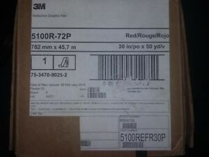 3m Red Reflective 5100r 72p Brand New Roll 30in X 50yds Cricut Vinyl Cutter