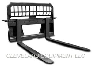 New 48 Pallet Forks Frame Attachment Skid Steer Loader Tractor 4000 Capacity