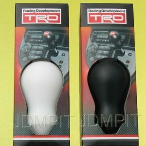 Authentic Official Toyota Trd Leather Shift Knob Trd Duracon For A T Black