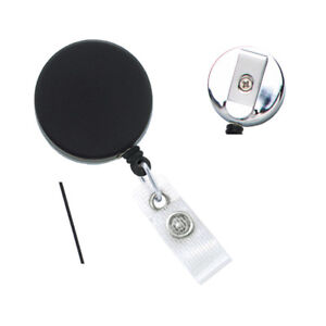 100 Heavy Duty Metal Retractable Badge Reels W Nylon Cable Cord Specialist Id