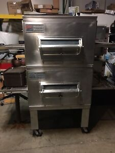 Middleby Marshall Conveyor Pizza Oven Direct Gas Fired Double Deck Model Ps224
