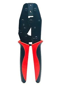 Automotive Ratchet Crimping Tool Crimper Non insulated Flag Wire Terminal