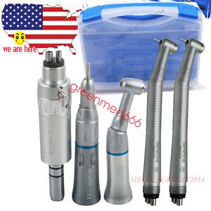 Dental 2pc High Speed 1 Kit Low Speed Handpiece 4hole 2hole Push Button Fit Nsk