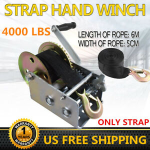 1000 Lbs Deluxe Boat Trailer Replacement Winch Strap 2 X20 With Snap Hook